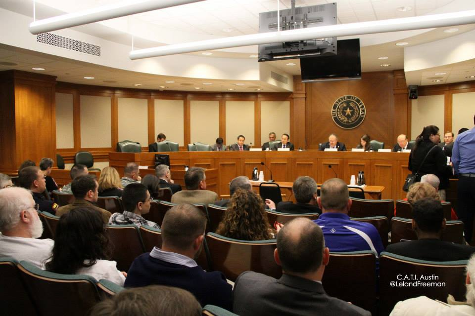firearms freedom activists testify in a Senate hearing in 2014